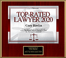 Logo Recognizing Heslin Law Firm's affiliation with Top Lawyer 2020