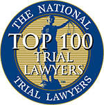 Logo Recognizing Heslin Law Firm's affiliation with National Trial Lawyers Top 100